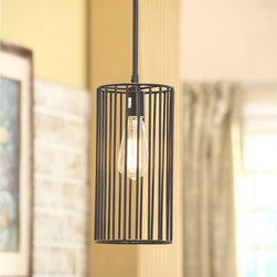 None - Renate Cylinder Pendant Light - Beautifully styled with a distressed iron finish,this minimalist cylinder pendant light goes well with urban,contemporary,and modern decors. The simple design allows you to illuminate small spaces or install several lights for a unique statement.
