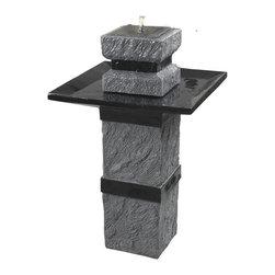 Kenroy - Kenroy 50028DST Monolith Outdoor Solar Fountain - Kenroy 50028DST Monolith Outdoor Solar Fountain