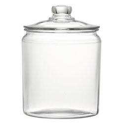 Heritage Hill 64-Ounce Glass Jar With Lid - I cannot rave enough about these glass canisters. I have looked for sturdy glass canisters to store my sugars, flour and oatmeal in on the counter, and I am thrilled with these. For less than $10 each, they are exactly what I was looking for.
