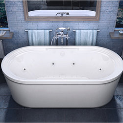None - Mountain Home Sierra 34 x 67 Acrylic Air and Whirlpool Jetted Freestanding Batht - Mountain Home Sierra 34 in. x 67 in. Acrylic Air and Whirlpool Jetted Freestanding Bathtub.  Mountain Home aims to deliver luxury and soothing comfort with a wide selection of elegantly crafted bathtubs.