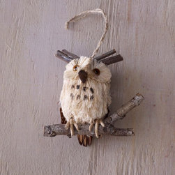 Brown Owl Ornament - This lovely ornament brings the outdoors inside, and it's a real hoot!