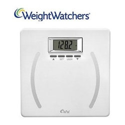 Conair - WW Precision Body Analysis Scl - Weight Watchers WW28 White Scale adds one more important tool in helping keep track of your ongoing weight loss. The stylish and contemporary design of this sleek bathroom scale works with every type of decor. Accurate and attractive  the sturdy silver chrome and metal exterior adds a bit of glamour not only to your bathroom but also to your daily weight check. With easy consulting and sturdy construction  you can better track the results of your dieting and exercising regime. The white scale offers a clear glass face with digital numbers that are easy to read and accurate to 350 lbs. And with the added insurance of its body composition scanner  this Weight Watchers scale will quickly become a leading choice in managing your personal weight control.  This item cannot be shipped to APO/FPO addresses. Please accept our apologies.