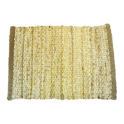 BrandWave - The Hudson, Placemat, Natural - All natural hemp and jute are intricately hand woven to create this collection of placemats. Be comforted that your placemats are one-of-a-kind pieces, with no single placemat identically matching another. With four beautiful colors to choose from, you can always find the perfect look for your dining room table.