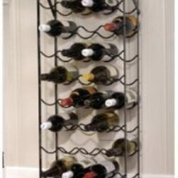 """Oenophilia Alex 40-Bottle Cellar Wine Rack - Everything you need nothing you don't: the Oenophilia Alex 40-Bottle Cellar Wine Rack is an obvious best-seller. Like Alexander himself it's strong reliable and can carry more than you think. Its 40-bottle capacity makes it ideal for the cellar but the black metal frame is too handsome to hide. Includes wall anchors for no-worry security. About OenophiliaWith a name Greek in origin meaning """"""""the love of wine """""""" Oenophilia delights in fulfilling its mission to bring together products that allow others to love wine with the passion that Oenophilia does. After creating their first product in 1983 the Oenophilia team has continued to produce and manufacture superior wine accessories and is known as one of the leading wholesale suppliers of wine accessories and gifts in the U.S. Although located in Hillsborough NC traveling the world has allowed Oenophilia to provide customers with a premium extensive collection of wine accessories including openers wine racks glassware and gifts. Oenophilia carries their signature line of original designs and packaging as well as exceptional brands such as Vacu-Vin Metrokane Rogar Srewpull and Spiegelau. Bringing eclectic wine products competitive pricing and responsive customer service to the table is the Oenophilia team's way of sharing their passion while achieving their goal of providing customers with a luxurious one-stop shopping experience."""