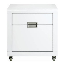 Home Decorators Collection - Parsons II File Cabinet - Add sleek sophistication to your office with the Parsons File Cabinet. Crafted of wood in your choice of glossy finish, this contemporary design instantly adds style and flair to your home office. With castors on the base, you can keep your files within arms reach. Constructed of solid wood. Holds letter and legal sized documents. Available in a variety of finishes.