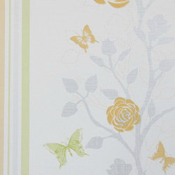 Bijou Coverings - Modern Floral Wallpaper , Green and Orange - Bijou Coverings wallcoverings can transform a room quickly and easily. In today's world, wallpaper is the hip new approach to cover your walls, a way to express your individuality and personal taste. Its so versatile; you can wallpaper all four walls, accent wall, the ceiling or create a large over scaled piece of artwork by framing it. With patterns that go from formal to fresh , raise textures, and modern palettes as well as fanciful floral trail patterns. We have an option for all tastes. Our wallcoverings have a washable vinyl coating applied to the surface for stability and ease of use.