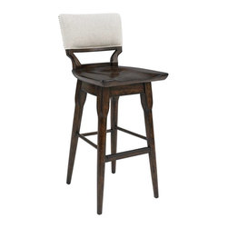 Stanley Furniture - Nailhead Trim Bar Stool - Exposed industrial elements, like the nailhead trim, distinguishes the Bar Stool.