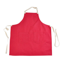 Red Rover Apron - Named after our favorite childhood game. This apron is made from Raw Japanese denim and becomes a wonderful faded red over time and becomes butter soft as well.