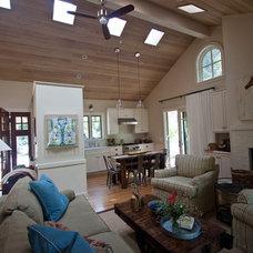 Farmhouse Family Room by Julia Mora Design