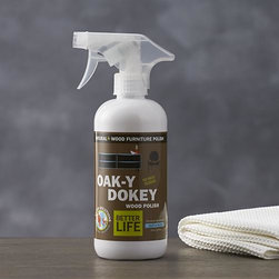 Better Life Oak-y-Dokey Wood Cleaner - Aspire to a healthier clean for your home. This eco-friendly, all-purpose wood cleaner is better for people, pets and the planet. Carefully formulated in the USA with natural ingredients, this plant-based solution effectively and safely cleans wood, engineered wood and wood veneer furniture, cabinets and paneling — even prized antiques. Hypoallergenic, biodegradable cleaner is free of solvents, petroleum products, synthetic fragrances and dyes.