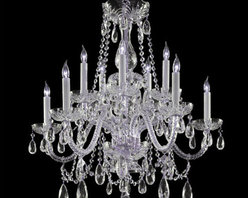 Crystorama Lighting Group - Traditional Polished Brass Ten-Light Hand Cut Crystal Chandelier - - Traditional crystal chandeliers are classic, timeless, and elegant. Crystorama's opulent glass arm chandeliers are nothing short of spectacular. This collection is offered in a variety of crystal grades to fit any budget. For a touch of class, order this collection in Gold for traditionalists or in Chrome to match your contemporary or transitional decor. Crystorama Lighting Group - 1130-CH-CL-MWP