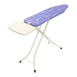 Brabantia Ironing Table, Solid Steam Unit Holder, Ivory Frame, Moving Circles Co