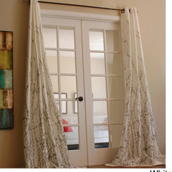 None - Lara 96-inch Shimmer Panel Window Curtain - The perfect spring or summer look for any room in your home,this elegant window curtain panel will put the finishing touch on any decor. It as a grommet style top of easy installation,and it has a neutral lining,which will help filter light.