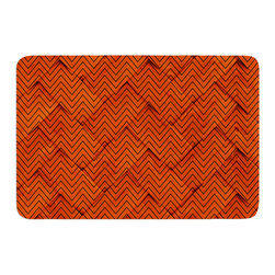 "KESS InHouse - KESS Original ""Chevron Weave"" Memory Foam Bath Mat (17"" x 24"") - These super absorbent bath mats will add comfort and style to your bathroom. These memory foam mats will feel like you are in a spa every time you step out of the shower. Available in two sizes, 17"" x 24"" and 24"" x 36"", with a .5"" thickness and non skid backing, these will fit every style of bathroom. Add comfort like never before in front of your vanity, sink, bathtub, shower or even laundry room. Machine wash cold, gentle cycle, tumble dry low or lay flat to dry. Printed on single side."