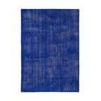 Kaleen - Contemporary Restoration 9'x12' Rectangle Blue Area Rug - The Restoration area rug Collection offers an affordable assortment of Contemporary stylings. Restoration features a blend of natural Blue color. Hand Knotted of 100% Wool the Restoration Collection is an intriguing compliment to any decor.