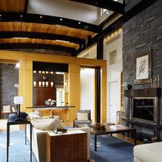 Asian Living Room by ZEN Associates, Inc.