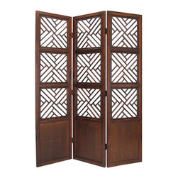 Wayborn - Wayborn Lattic Room Divider in Walnut - Wayborn - Room Dividers - 2350 -