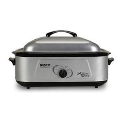 Metal Ware Corp. - Nesco 18 Qt Professional Roaster Oven - Nesco 18 Qt professional stainless steel roaster oven with porcelains cookwell and stainless steel cover.