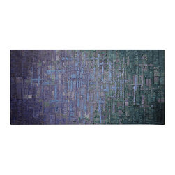 Matthew's Art Gallery - Oil Painting Abstract Modern Heavy Texture Blue Myst - The Painting:  Blue Myst