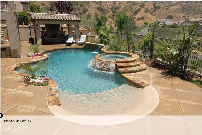 Swimming pools - Beach entry swimming pool designs ...
