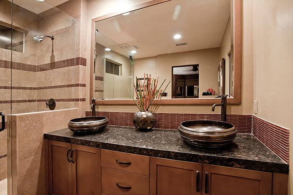 Transitional Bathroom by An Interior Motive Designs LLC