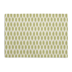 Green & Gray Ikat Dot Custom Placemat Set - Is your table looking sad and lonely? Give it a boost with at set of Simple Placemats. Customizable in hundreds of fabrics, you're sure to find the perfect set for daily dining or that fancy shindig. We love it in this ikat dot in lime green & gray on the softest white cotton sateen. as cute as it is contemporary.