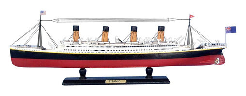 "Handcrafted Model Ships - RMS Titanic Limited 15"" - Nautical Decor - Sold fully assembled."