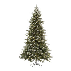 "Vickerman - Frosted Balsam 750CL Dura-Lit (7.5' x 54"") - 7.5' x 54"" Frosted Balsam Fir, 1376 tips, UL 750 Dura-Lit Clear Light, on/off switch step, in Bmv metal base, 70% PVC, 30% PE, Thickness Dura-lit Lights utilize microchips in each socket so bulbs stay lit even when some bulbs are broken or missing."