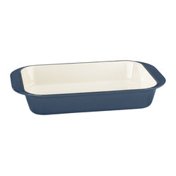 "Cuisinart - Cuisinart Chef's Classic Enamel Cast Iron 14"" Roasting Lasagna Pan - The roast with the most begins with the right pan. This cast iron marvel offers superior heat retention and distribution, while the enamel interior keeps your food tasting like it should."