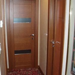 Italian interior doors in solid TEAK OAK -