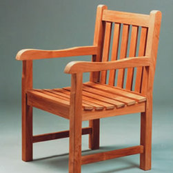 Anderson Teak - CHD005 Classic Dining Armchair - This simple, traditional dining armchair will never go out of style, but quietly blends with any other design. The seat is very sturdy and supported by strong backing. Place this chair in your backyard with the dining table, and it will amaze your family and friends.