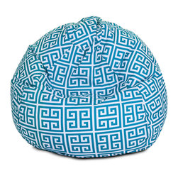 Majestic Home - Outdoor Pacific Towers Small Bean Bag - A great addition to any family room, playroom or outdoor seating arrangement, the Majestic Home Goods Small Bean Bag allows your child to read or watch a favorite show in the utmost comfort. Generously filled with eco-friendly polystyrene beads, this chair easily forms to your child's body for an ergonomic lounging experience. This bean bag has an outdoor treated polyester slipcover, with up to 1000 hours of U.V. protection that zips off for easy cleaning.