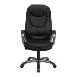 Flash Furniture - Flash Furniture Office Chairs Leather Executive Swivels X-GG-40H8600XC-HC - This Executive Office Chair will provide you comfort while working at home or in the office. The double padded seat and back are sure to please you as you complete your daily tasks. The titanium nylon base with black caps prevents feet from slipping. Choose this black leather Office Chair from Flash Furniture when you want comfort and a modern update. [CH-CX0068H04-GG]