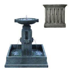 Campania International - Oak Bluff Fountain - Alpine Stone (AS) - (FT-65) from Campania International. 753 lbs. Shipping is available throughout the continental United States. As these fountains are made to order,_please allow 4 to 6 weeks for delivery. Drop ship is curbside delivery only.