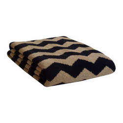 Ziggy Throw Blanket - Ziggy is a classic, timeless print for both modern and traditional interiors. These soft throws are perfect year-round ... whether for cool summer nights or in the winter by the fire! Ideal size for the foot of a bed or on your favorite chair. Throw features contrast knit on reverse side with colors used on front. 80/20 cotton/acrylic blend; machine washable. Made to order by Christen Maxwell in the USA
