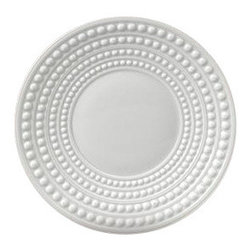 L'Objet - L'Objet Perlee White Saucer - Inspired by the timeless elegance and modernity of the pearl. Limoges Porcelain. Made in Portugal. Dishwasher & Microwave Safe. Diameter 6.5 oz.L'Objet is best known for using ancient design techniques to create timeless, yet decidedly modern serveware, dishes, home decor and gifts.
