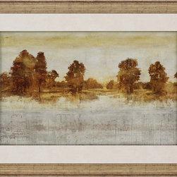 Paragon Decor - Provincial Peace II Artwork - Peaceful landscape features raised matting.