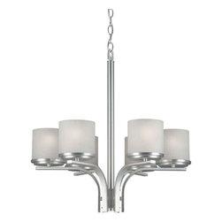 Forte Lighting - Forte Lighting 2424-06 22Wx24H  6 Light Chandelier - Contemporary / Modern 6 Light Chandelier