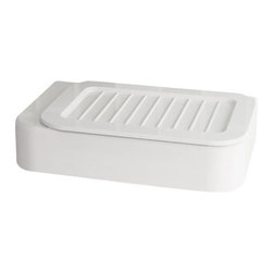 Gedy - Stylish Wall Mounted Soap Dish, White/White - If you are thinking about a soap dish, why not consider this designer soap dish/holder from the Gedy Nastro collection? Perfect for more modern settings, this designer-quality soap dish/holder is wall mount and coated in white/white, white/transparent, white/transparent light blue, or white/transparent anthracite. Made with quality thermoplastic resins in Italy by Gedy. Soap dish from the Gedy Nastro collection. Made in thermoplastic resins and coated in white/white, white/transparent, white/transparent light blue, or white/transparent anthracite. Designer modern soap dish/holder for your designer master bath. Manufactured in and imported from Italy.