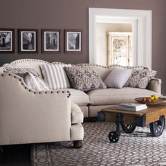 traditional sectional sofas by Horchow