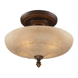 ELK Lighting - ELK Lighting 08095 Restoration Four-Light Semi-Flush Ceiling Fixture - A Grouping Of Ceiling Lighting Developed With A Discriminating Concern For Preserving Historic Lighting And Architectural Designs.This Offering Of Expert Restoration And Replication Fixtures Is Offered In A Wide Variety Of Styles And Sizes.Specifications: