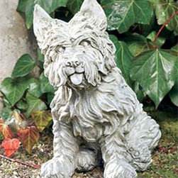 Ladybug - Westie Dog Statue (Moss) - Finish: MossHand painted finish. 1-Year warranty. Made in the USA. Made of pecan shell resin. 5 in. W x 8 in. D x 15.5 in. H (11 lbs.)The finishes are applied by hand, enhancing every detail, and resulting in the uniqueness of no two pieces being exactly alike. Each individually hand-crafted piece of Ladybug product is cast in a crushed marble or resin composition which has the ability to capture and reproduce the same definition and minute detail as the original. It is a substantial, non-porous material which does not absorb moisture, making it ideal for outdoor use, although it offers the strength and durability required to endure even extreme weather conditions.