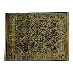 1800GetARug.com - 8'x10' Rajasthan Trellis Design Oriental Rug 100% Wool Hand Knotted Sh18880 - 8'x10' Rajasthan Trellis Design Oriental Rug 100% Wool Hand Knotted Sh18880