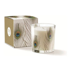 May Peacock Plume Candle