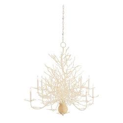 Currey & Co - Currey & Co 9188 Seaward White Coral 12 Light Chandelier - 12 Bulbs, Bulb Type: 60 Watt Candelabra; Weight: 30lbs