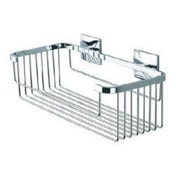 Baño Diseño Luk Collection - Shampoo Basket For Shower And Bath  – Luk Collection - Soap basket nº 15 from the Luk Collection bathroom accessories - Perfect for upscale bathroom settings!