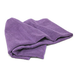 Zenzation Athletics - Purple Microfiber Fitness Towel - This microfiber towel is ideal for hot yoga or the gym. It's lint-free, antibacterial and up to six times more absorbent than cotton.   1' 4'' W x 3' H Microfiber Machine wash; dry flat; tumble dry Imported