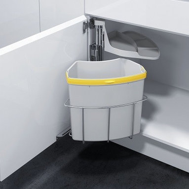 Kitchen Trash & Recycling OKO-1 - Oeko Waste Center for under your sink cabinet for your kitchen, laundry or even your garage.