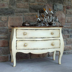Bombay Wood Dresser, Low - This distressed dresser has great character.