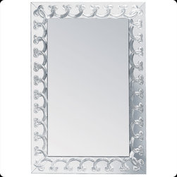 Lalique - Lalique Rinceaux Large Mirror Clear - Lalique Rinceaux Large Mirror Clear 1021300  -  Size: 1.54 Inches Long x 34.53 Inches Wide x 51.26 Inches Tall  -  Genuine Lalique Crystal  -  Fully Authorized U.S. Lalique Crystal Dealer  -  Created by the Lost Wax Technique  -  No Two Lalique Pieces Are Exactly the Same  -  Brand New in the Original Lalique Box  -  Every Lalique Piece is Signed by Hand, a Sign of its Authenticity and Quality  -  Created in Wingen on Moder-France  -  Lalique Crystal UPC Number: 090592102138